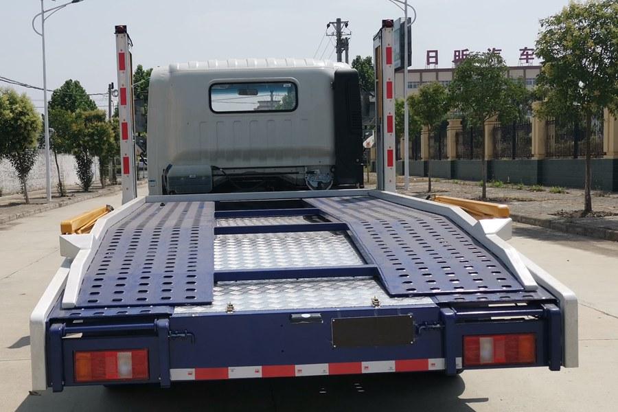重汽豪沃二位板轿运车正后图片