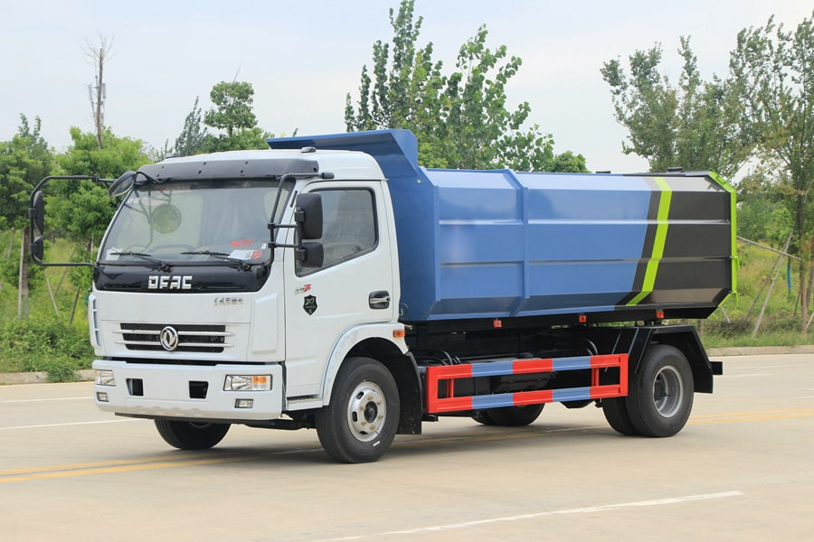 东风5吨自装卸式垃圾车左前侧图片