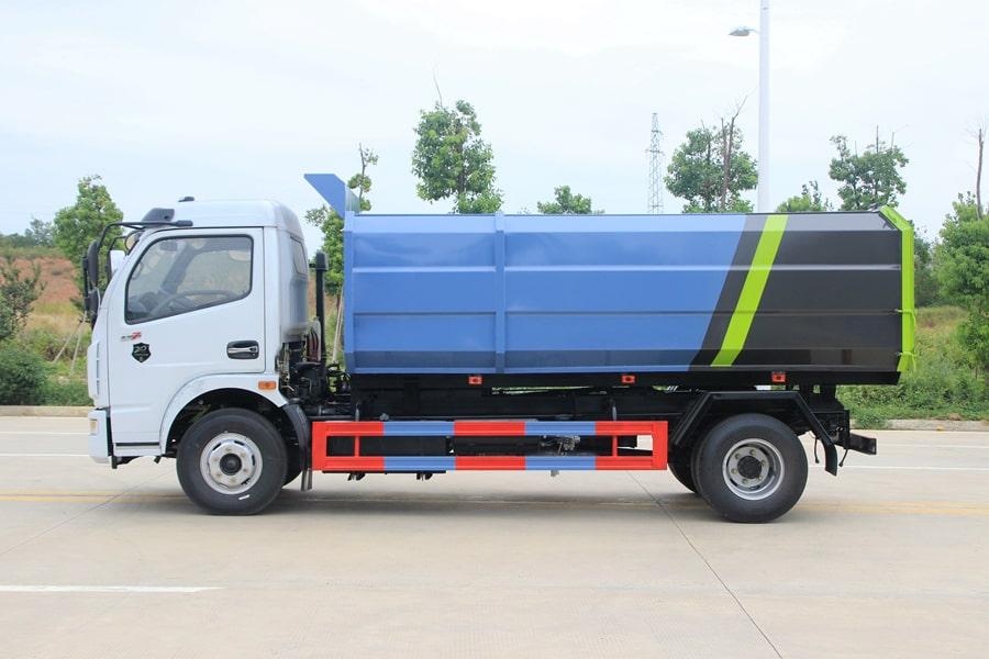 东风5吨自装卸式垃圾车左后侧图片