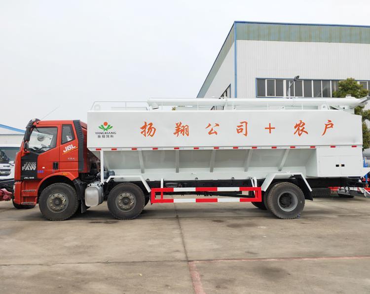 解放15吨散装饲料车左侧视角
