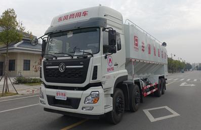 东风天龙20吨散装饲料车左前侧45°视角