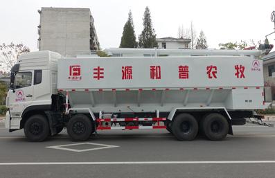 东风天龙20吨散装饲料车左侧视角