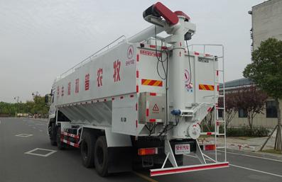 东风天龙20吨散装饲料车左后侧45°视角
