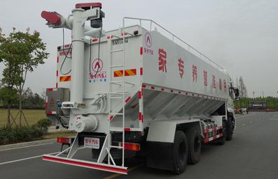 东风天龙20吨散装饲料车右后侧45°视角