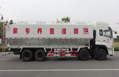 东风天龙20吨散装饲料车右侧视角