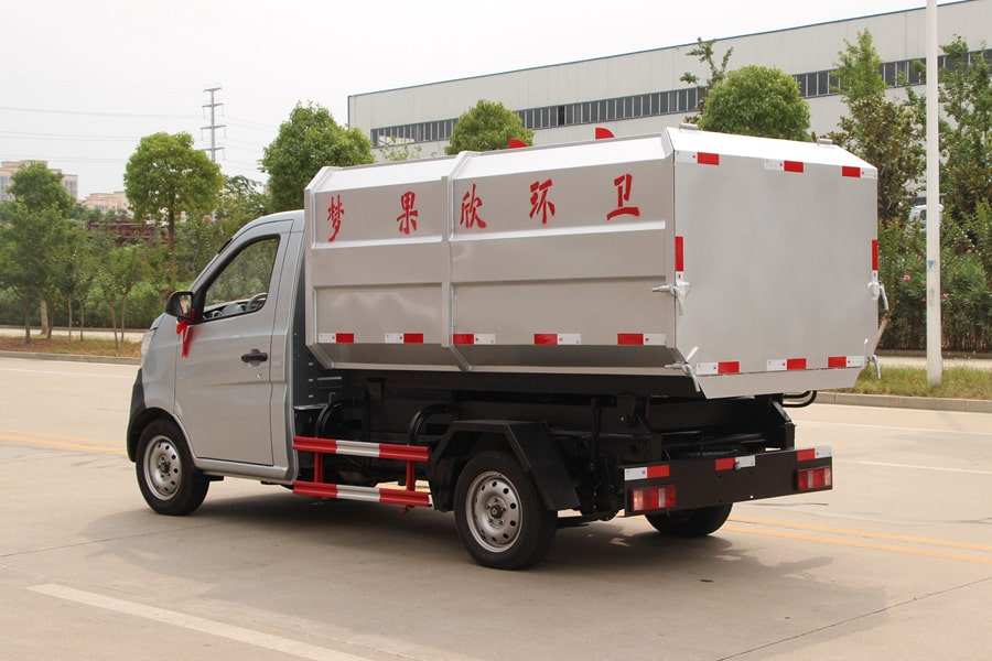 长安3方自装卸式垃圾车左后侧图片