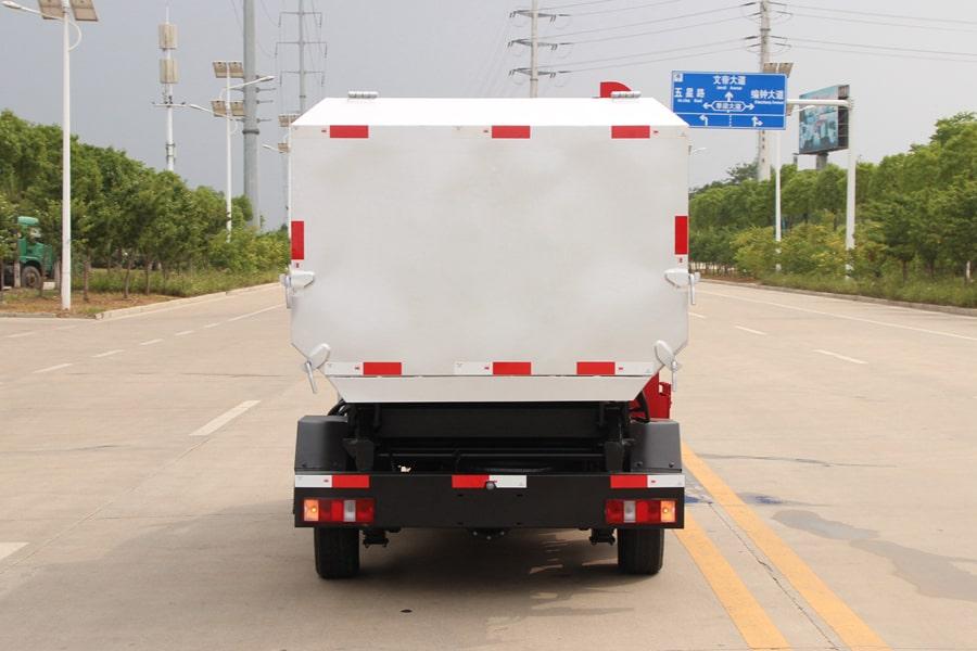 长安3方自装卸式垃圾车后侧图片