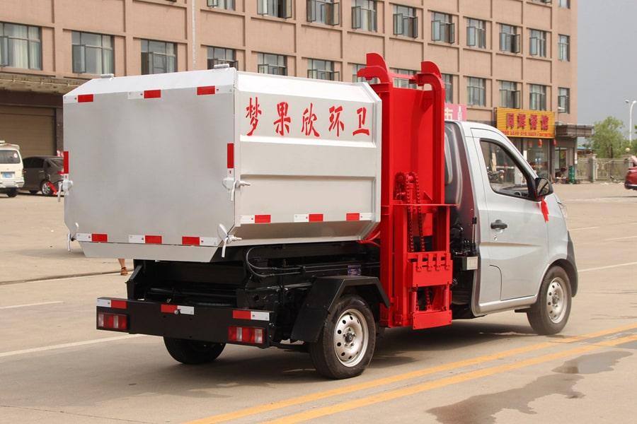 长安3方自装卸式垃圾车右后侧图片