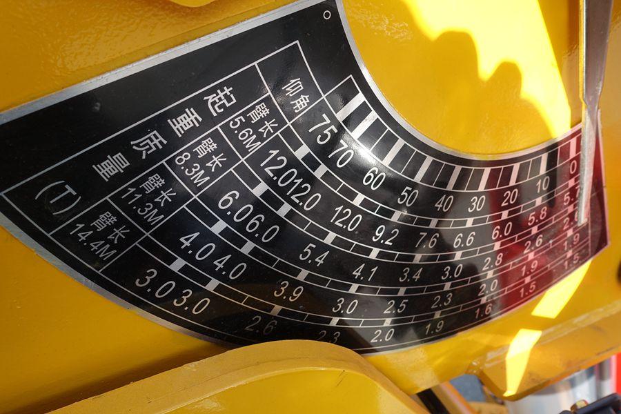 东风D3L12吨随车吊起吊参数图片