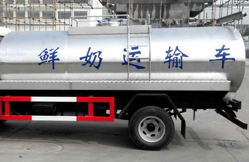 时代小型鲜奶运输车奶罐图片