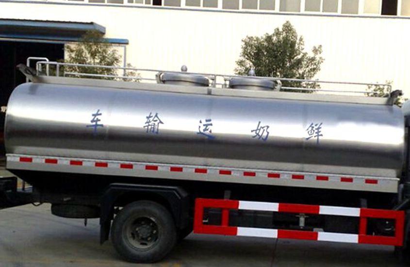 东风大多利卡鲜奶运输车奶罐图片一