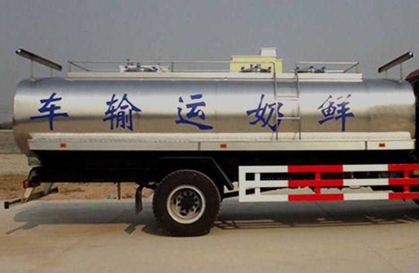 欧曼鲜奶运输车奶罐图片一