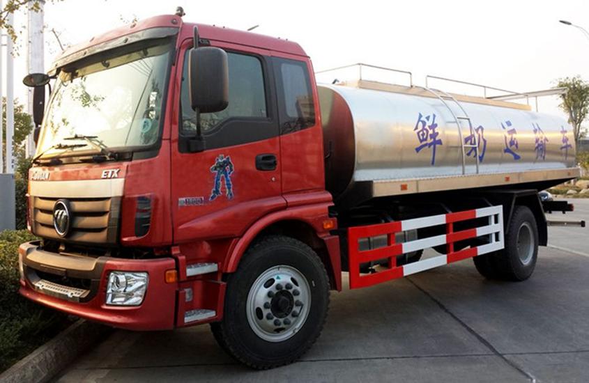 国五欧曼鲜奶运输车图片