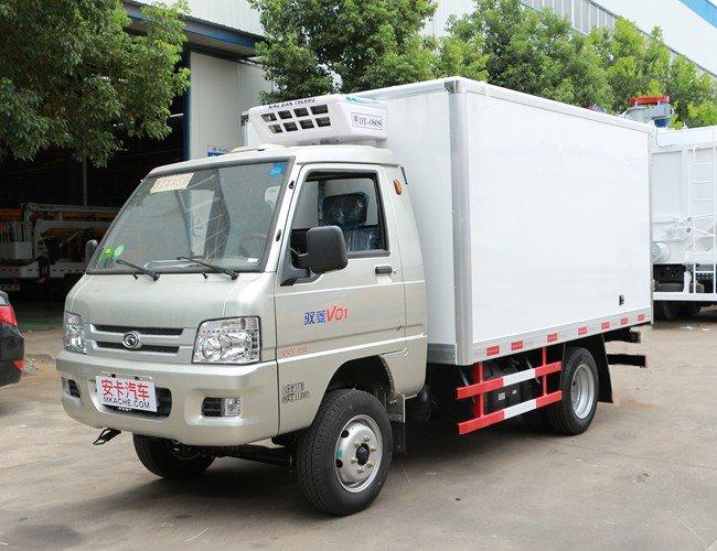 福田驭菱2.9米冷藏车斜前图片