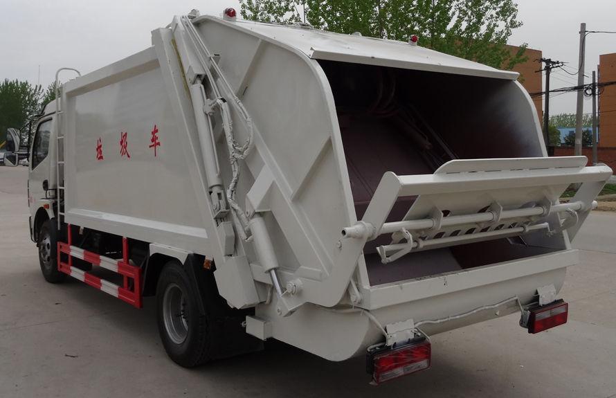 东风8方压缩式垃圾车左后侧图片