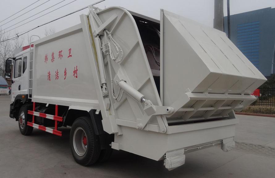 东风12方压缩垃圾车左后侧图片