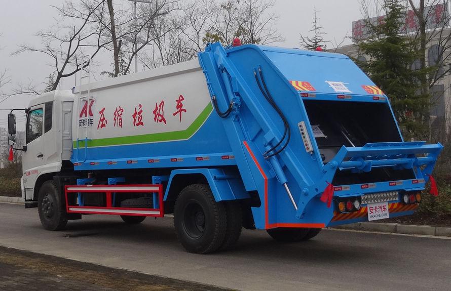 东风14方压缩式垃圾车左后侧图片