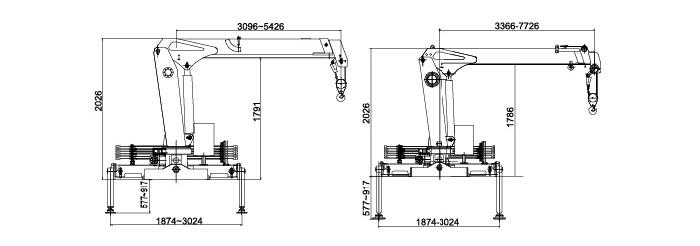 徐工2吨随车吊吊机尺寸图片