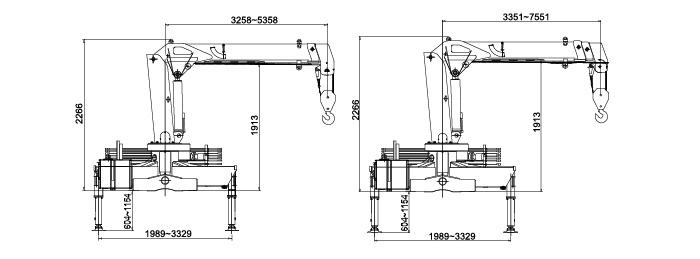 徐工3吨随车吊吊机尺寸图片