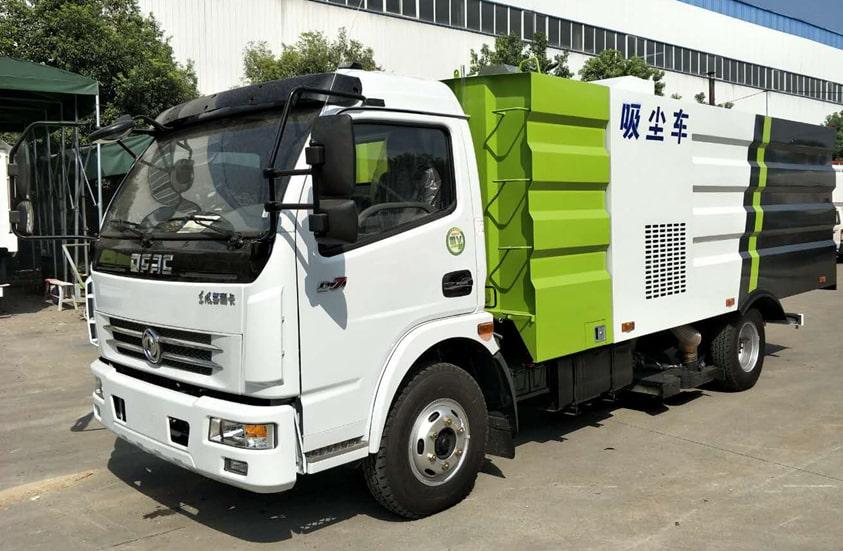 东风5吨吸尘车图片(车头向左前45度)