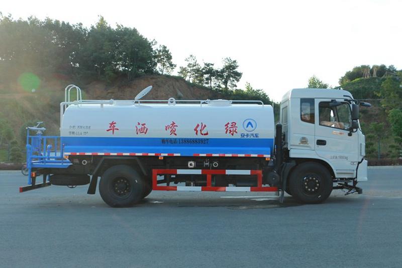 东风御虎13吨洒水车正侧面图片