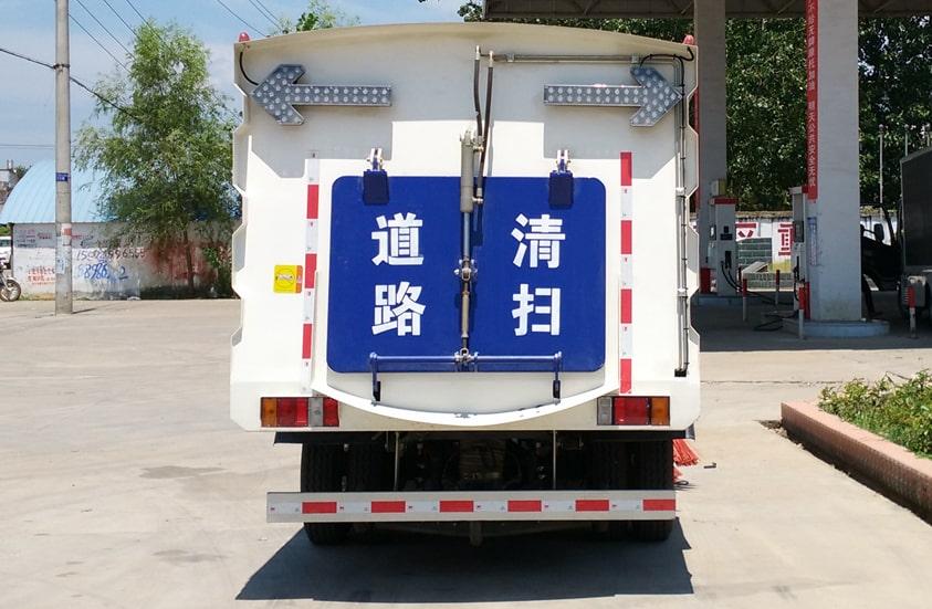 五十铃3吨扫路车图片(车尾实拍)