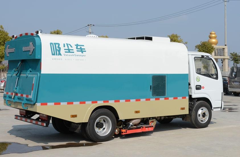 东风3吨小型吸尘车图片(车头向右后45度)