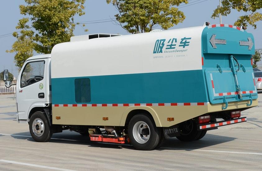 东风3吨小型吸尘车图片(车头向左后45度)