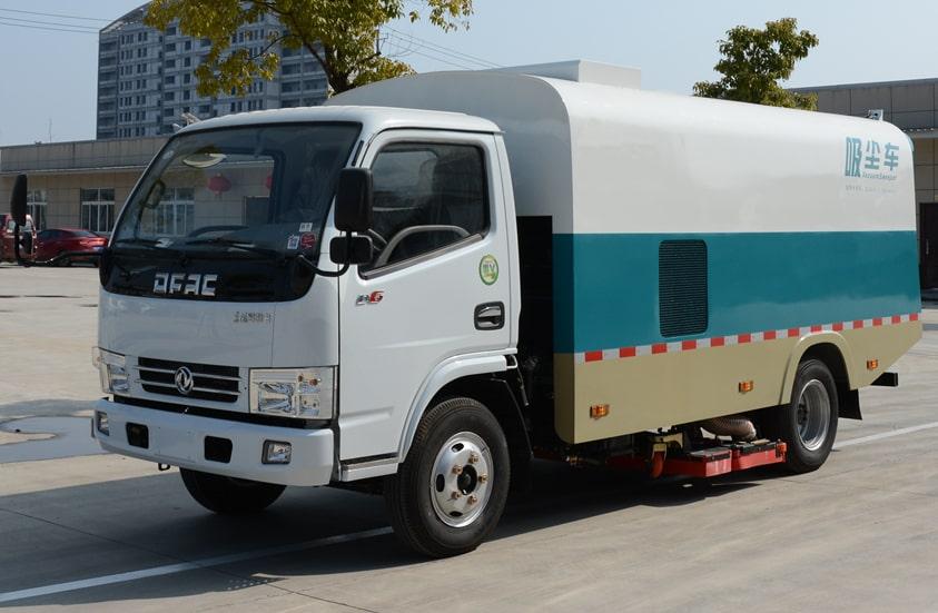 东风3吨小型吸尘车图片(车头向左前45度)