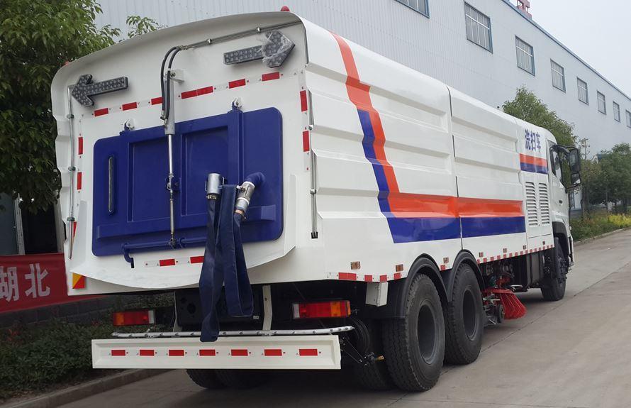 东风天龙25吨大型洗扫车超宽液压尾门