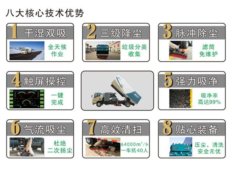 东风3吨吸尘车技术优势