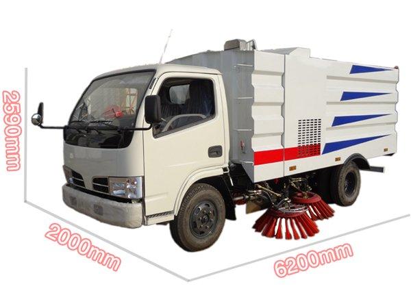 东风3吨扫路车外形尺寸