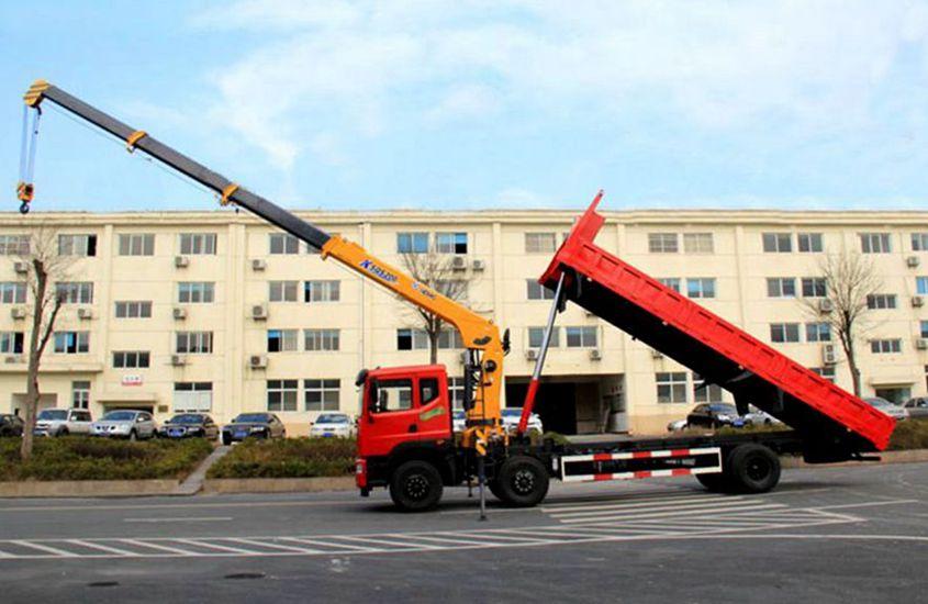 东风10吨随车吊正侧自卸图片
