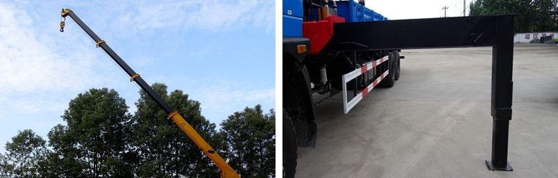 东风12吨随车吊吊机图片