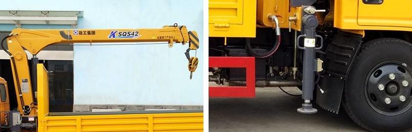 东风2吨小型随车吊吊机图片