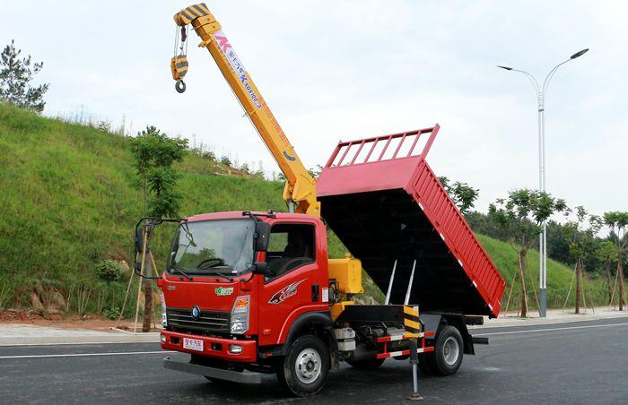 重汽王牌3.2吨随车吊左侧图片