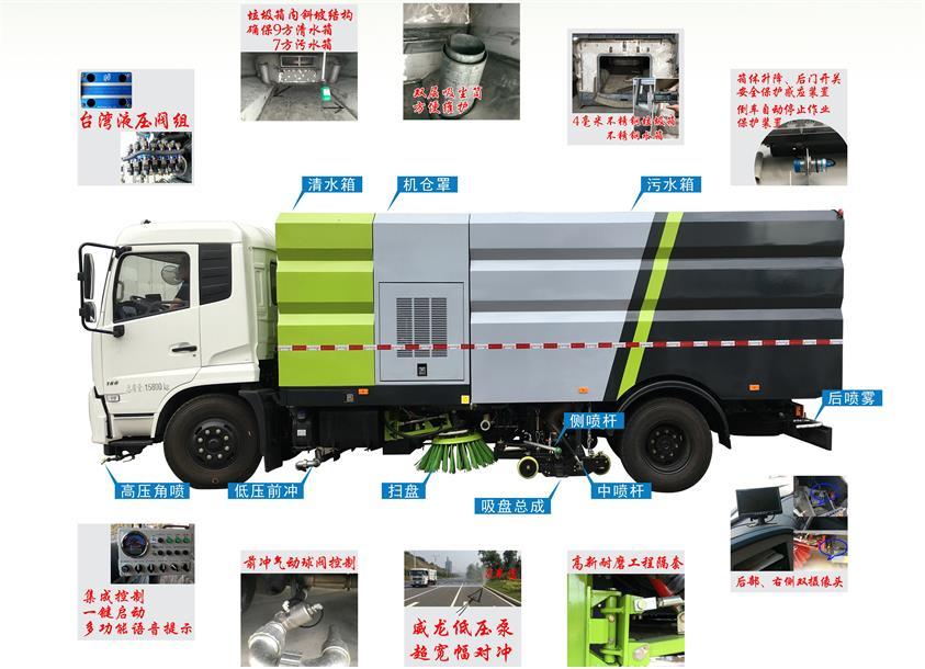 东风8吨天锦洗扫车车型结构及配置一览