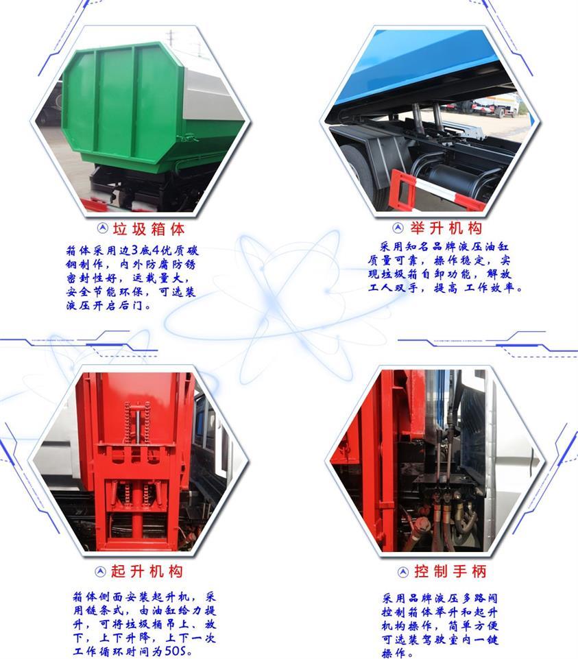 凯马4方挂桶垃圾车详细配置图片