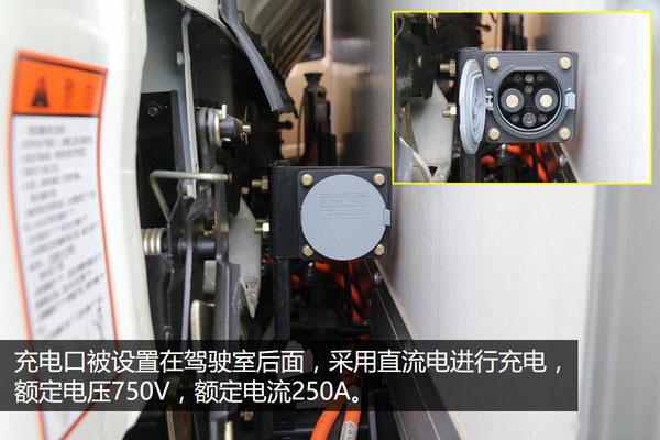 大运4.2米纯电动冷藏车充电接口图片