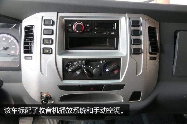 大运4.2米纯电动冷藏车播放系统和手动空调图片