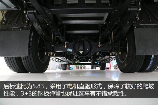 大运4.2米纯电动冷藏车后桥速比图片