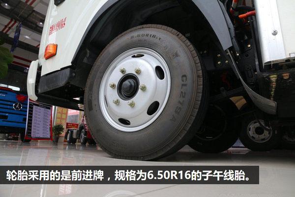 大运4.2米纯电动冷藏车6.50轮胎图片