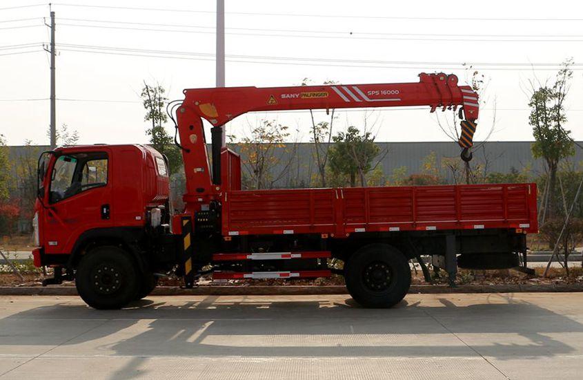 三一8吨直臂随车吊正侧图片