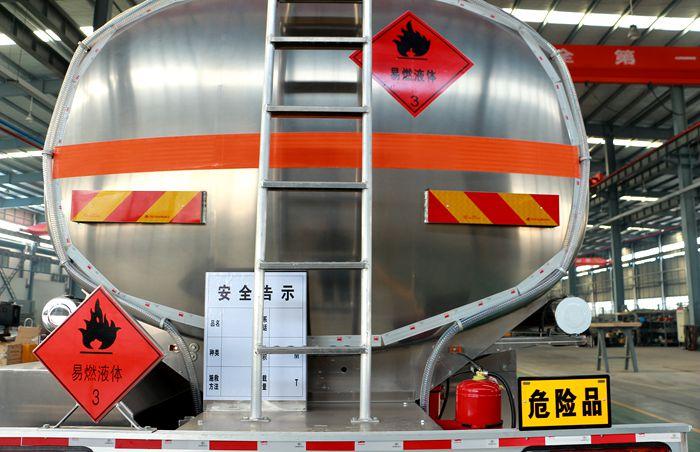 解放23吨油罐车危险标识图片