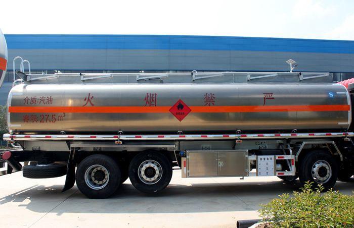 三环前四后六25吨油罐车罐体图片