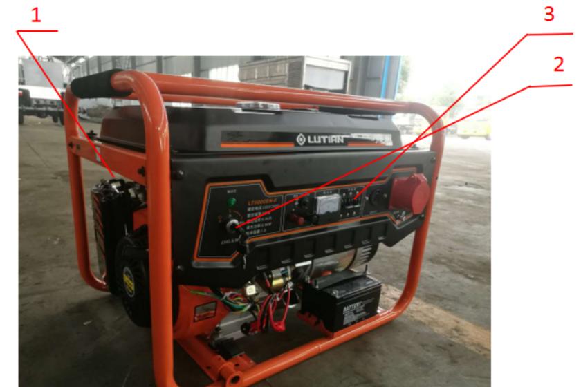 沥青洒布车汽油发电机图片