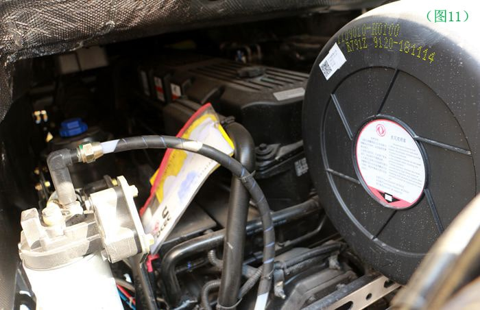 东风天龙半挂油罐车发动机图片