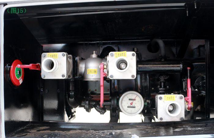 东风天锦10吨油罐车泵进泵出图片