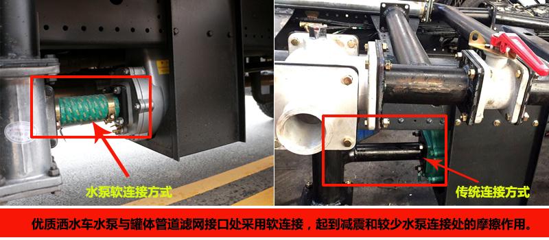 优质洒水车水泵软连接对比图片