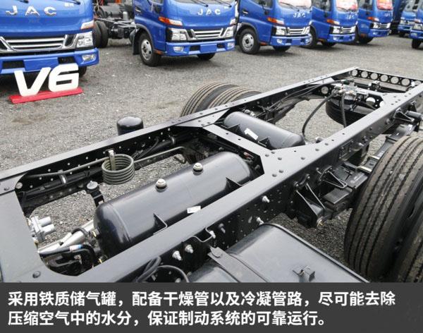 江淮骏铃V5一拖二蓝牌平板清障车图片(十二)